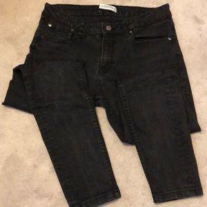 Zara black wash skinny ankle pant